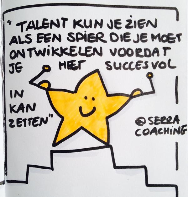Talent kun je zien als een spier die je moet ontwikkelen voordat je het succesvol in kan zetten