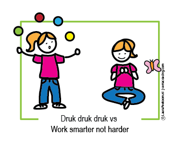 Druk druk druk vs work smarter not harder mm