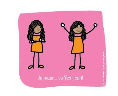 Ja maar, versus yes I can mm